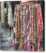 Market Scarves Canvas Print by Brenda Bryant
