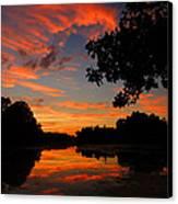 Marlu Lake At Sunset Canvas Print by Raymond Salani III