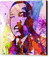 Martin Luther King Jr Watercolor Canvas Print by Naxart Studio