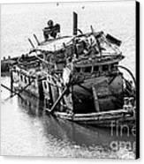Mary D Hume Shipwreck - Rogue River Oregon Canvas Print