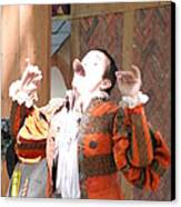 Maryland Renaissance Festival - Johnny Fox Sword Swallower - 121219 Canvas Print by DC Photographer