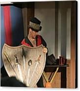 Maryland Renaissance Festival - Johnny Fox Sword Swallower - 121275 Canvas Print by DC Photographer
