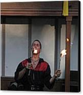 Maryland Renaissance Festival - Johnny Fox Sword Swallower - 121296 Canvas Print by DC Photographer