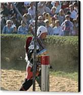Maryland Renaissance Festival - Jousting And Sword Fighting - 1212119 Canvas Print by DC Photographer
