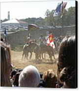 Maryland Renaissance Festival - Jousting And Sword Fighting - 1212203 Canvas Print by DC Photographer