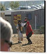 Maryland Renaissance Festival - Jousting And Sword Fighting - 1212213 Canvas Print by DC Photographer