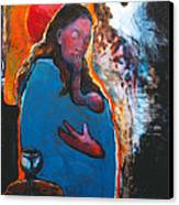 Mary's Pondering Canvas Print by Daniel Bonnell
