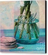 Mason Jar Vase Canvas Print