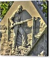 Massachusetts At Gettysburg 1st Mass. Volunteer Infantry Skirmishers Close 1 Steinwehr Ave Autumn Canvas Print