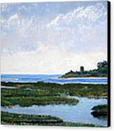 Massachussetts Marsh Morning Canvas Print by Lorraine McFarland