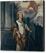 Massimo Diodato, St Catherine Canvas Print by Everett