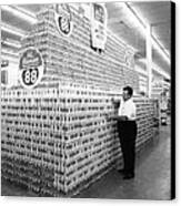 Massive Beer Display Canvas Print by Retro Images Archive