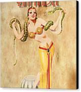 Mata Hari Vintage Wine Ad Canvas Print