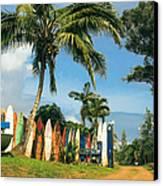 Maui Surfboard Fence - Peahi Canvas Print