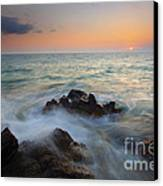 Maui Tidal Swirl Canvas Print by Mike  Dawson