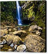 Maui Waterfall Canvas Print by Adam Romanowicz