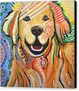 Max ... Abstract Dog Art...golden Retriever Canvas Print