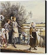 May Day Garlands Canvas Print