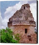 Mayan Observatory Canvas Print