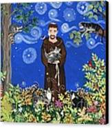 May's St. Francis Canvas Print by Sue Betanzos