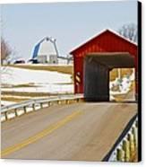 Mccolly Covered Bridge Canvas Print