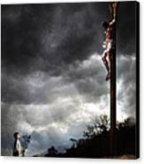 Me And Jesus Canvas Print by Mark Spears