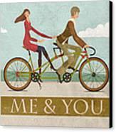 Me And You Bike Canvas Print