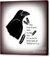 Meaning Of Raven Canvas Print by Eva Thomas