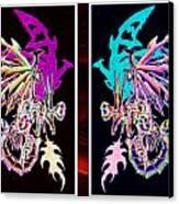 Mech Dragons Pastel Canvas Print