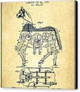 Mechanical Horse Patent Drawing From 1893 - Vintage Canvas Print