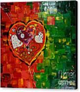 Mechanism Of Love Canvas Print by Alexandru Rusu