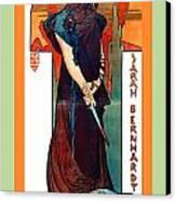 Medee Canvas Print by Alphonse Maria Mucha
