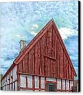 Medieval Building Canvas Print by Antony McAulay