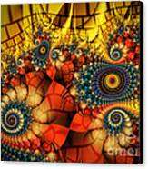 Medieval Ceremonial-fractal Art Canvas Print