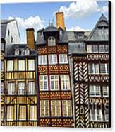 Medieval Houses In Rennes Canvas Print