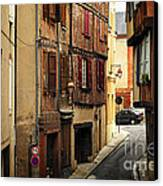 Medieval Street In Albi France Canvas Print by Elena Elisseeva