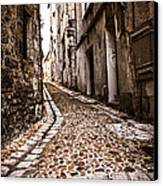Medieval Street In France Canvas Print