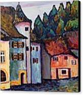 Medieval Village Of St. Ursanne Switzerland Canvas Print