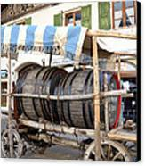 Medieval Wagon Used For Transporting Wine Canvas Print by Elzbieta Fazel