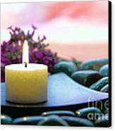 Meditation Candle Canvas Print by Olivier Le Queinec