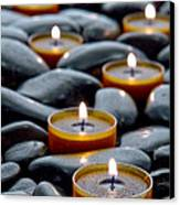 Meditation Candles Canvas Print by Olivier Le Queinec