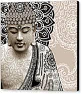 Meditation Mehndi - Paisley Buddha Artwork - Copyrighted Canvas Print
