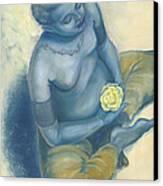 Meditation With Flower Canvas Print by Judith Grzimek