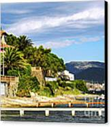 Mediterranean Coast Of French Riviera Canvas Print