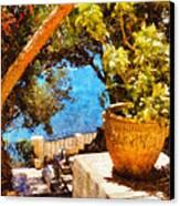 Mediterranean Steps Canvas Print by Pixel Chimp