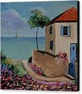 Mediterranean Villa Canvas Print by Stefon Marc Brown