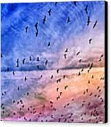 Meet Me Halfway Across The Sky 2 Canvas Print by Angelina Vick