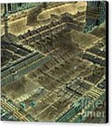 Mega - Metropolitan  Canvas Print by Bernard MICHEL
