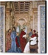 Melozzo Da Forli 1438-1494. Sixtus Iv Canvas Print