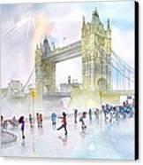 Memories Of London Bridge England Canvas Print